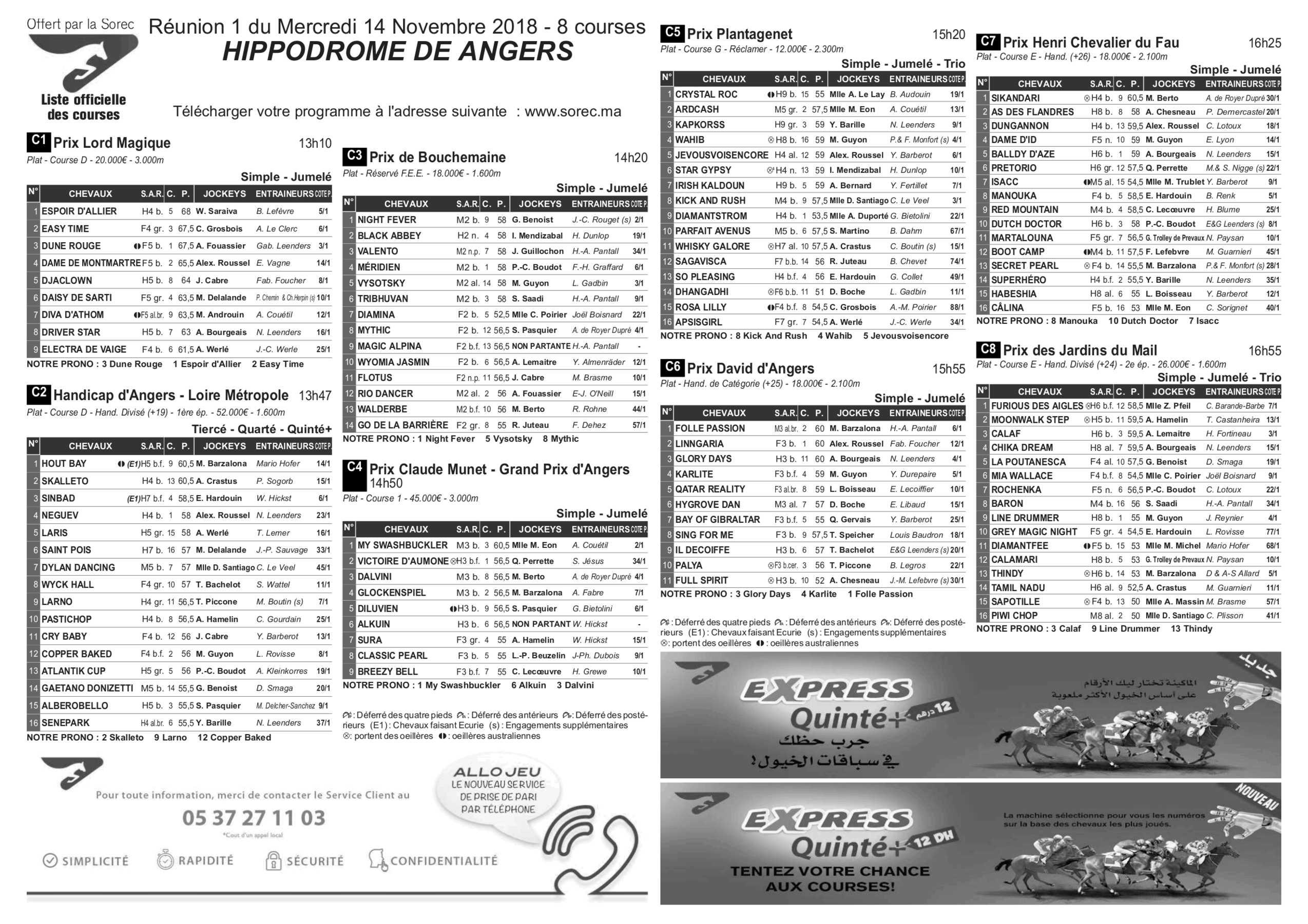 Programmes Turfpronos